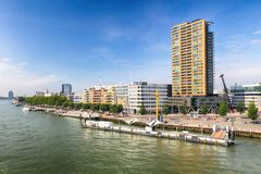Rotterdam Skyline, Netherlands. Royalty Free Stock Photography