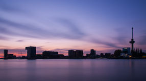 Rotterdam skyline with office buildings Stock Images