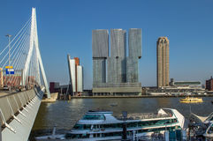 Rotterdam skyline. At river, Netherlands Stock Images