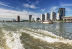 Rotterdam skyline seen from the water Stock Photography