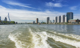 Rotterdam skyline seen from the water Stock Photos
