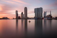 Rotterdam skyline at sunset Royalty Free Stock Image
