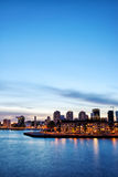 Rotterdam Skyline at Twilight Royalty Free Stock Images