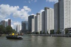 Rotterdam. Skyline of Rotterdam with view on Kop van Zuid Stock Image