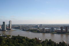 Rotterdam south. Rotterdam seen from the Euromast royalty free stock photography