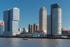 Rotterdam Southbank teren wzdłuż Nieuwe Maas obraz royalty free