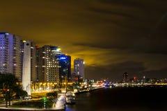 Rotterdam-Stadt bis zum Nacht Lizenzfreies Stockbild