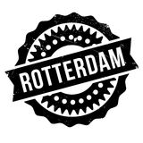 Rotterdam stamp rubber grunge Royalty Free Stock Images