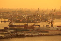 Rotterdam in sunset Royalty Free Stock Image