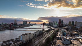 Rotterdam timelapse stock video footage