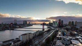 Rotterdam timelapse stock video footage