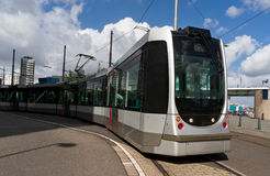 Rotterdam tramway. There is a Rotterdam tramway, Netherlands Royalty Free Stock Images