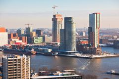 Rotterdam view Royalty Free Stock Photography