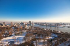 Rotterdam view Stock Images