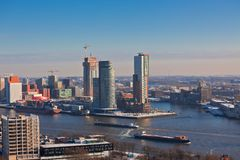 Rotterdam view from Euromast tower Stock Image