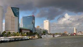 Rotterdam vom Wasser stock video