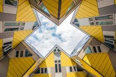 Rotterdam-Würfel-Häuser Stockfoto