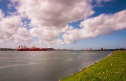 Rotterdam waterway europoort Stock Image
