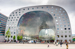 Rotterdamse Markthal Rotterdam Market hall on a Cloudy Spring Day Royalty Free Stock Photography