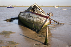 Rotting boat. Orford ness suffolk Royalty Free Stock Images