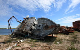 Rotting Fishing Boat Stock Images
