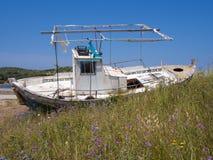 Rotting Fishing Boat Stock Photos