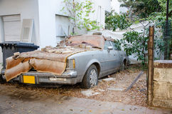 Rotting Lincoln Town Car 1981 Stock Image