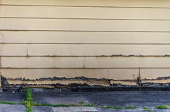 Rotting old clapboard siding royalty free stock photo