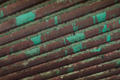 Rotting Steel Roofing after rain Royalty Free Stock Images