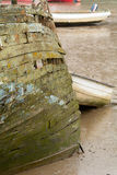 Rotting wooden boat hull Stock Image