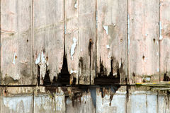 Rotting wooden panels Stock Images