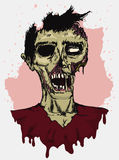 Rotting Zombie in Hand Draw Style, Vector Illustration Stock Images