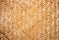 Rottingtextur, detalj handcraft bambu som väver texturbakgrund arkivfoto