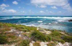 Rottnest海岛:印度洋视图 免版税库存照片