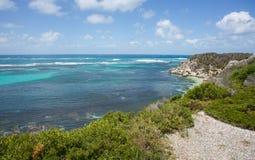 Rottnest海岛:风景海视图 库存照片