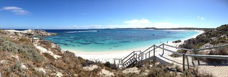 Rottnest-Insel-Strand stockfoto