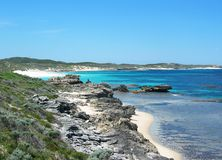 Rottnest Island. Beach at Rottnest Island, Australia stock images