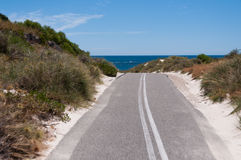Rottnest Island Bike Path Royalty Free Stock Photography