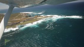 Rottnest Island West End. Aerial view of West End, the most popular western point of Rottnest Island, Australia, a rugged piece of coastline famous for waves stock footage