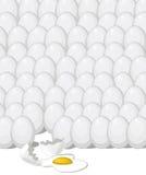 Rotto fra i precedenti delle uova Immagini Stock