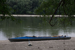 Rottura con la canoa Fotografia Stock Libera da Diritti