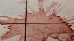 Rottura del bicchiere di vino stock footage