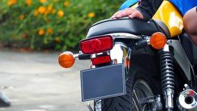 Rottura del bigbike del motociclo e luce di segnalazione di giro Fotografia Stock
