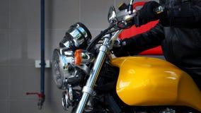 Rottura del bigbike del motociclo e luce di segnalazione di giro Fotografia Stock Libera da Diritti