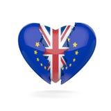 Rottura del cuore di Brexit Immagini Stock Libere da Diritti