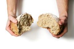 Rottura del pane Fotografia Stock