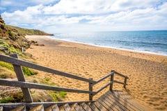 Rottura del punto della spiaggia di Belhi, Victoria Australia Fotografie Stock Libere da Diritti