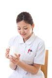 Rottura dell'infermiera dei giovani Fotografie Stock Libere da Diritti