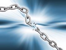 Rottura della catena Fotografia Stock Libera da Diritti