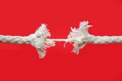 Rottura della corda Fotografie Stock